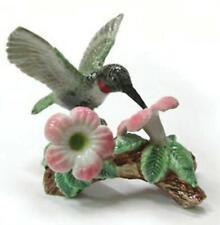 More details for northern rose miniature porcelain bird figure hummingbird on flower r164