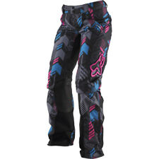 Fox Racing Women's Switch Geo Off Road MX Pants Black Pink Blue Size 9x10