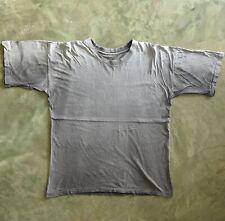 Vtg Blank Basic Faded Black Thrashed Boxy Thin Cotton T Shirt Worn Baggy 22x27