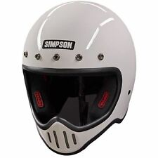 SIMPSON M50 MOTORCYCLE HELMET DOT APPROVED GLOSS WHITE S M L XL