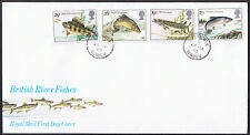 British River Fishes 1983 First Day Cover - Stamps SG1207 to SG1210 Surrey