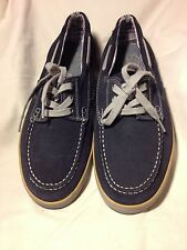 Clarks Men's Dark Grey Suede Leather Boat Shoes Size 11.5 M