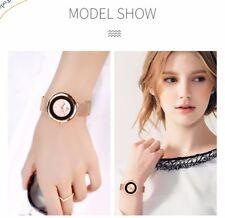 7mm Luxury Brand Women Quartz Watch Relogio Feminino Rose Gold Bracelet Watch