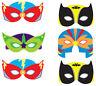 6 Super Hero Masks - Foam Pinata Toy Loot/Party Bag Fillers Wedding/Kids