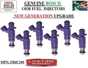 Set/6 Fuel Injectors OEM Bosch NEW GEN. for Nissan & Infiniti 3-3.5L V6 / PURPLE