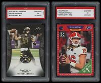2021 Trevor Lawrence Pro Set & Leaf All-American 1st Graded 10 Rookie Card Lot