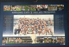 GEELONG CATS 2011 PREMIERS GRAND FINAL LIMITED EDITION AFL PRINT BARTEL SELWOOD
