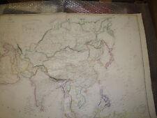 Asia Dispatch Atlas circa 1863 map Engraved-drawnE.Weller- 46x64 cm Framed20more