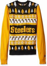 Ugly Christmas Sweater, Pittsburgh Steelers, New, Wordmark Design, XL, NFL, NWT