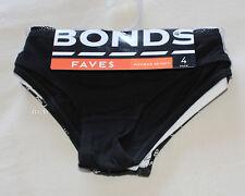 Bonds Ladies Faves Skimpini Skimpy Brief 4 Pack Print Plain 03K Size 10 New