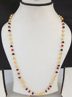 South Indian Jewelry Ethnic Gold Plated Beaded Necklace Chain 22k Light Mala pp9