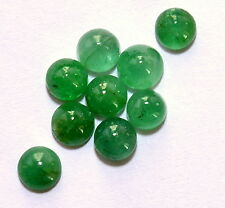 Natural Emerald Round Cabochon 4.50 mm Lot 09 Pcs 3.56 CTS Untreated Gemstones