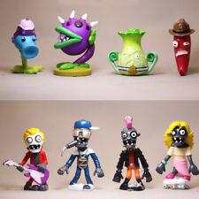 Plants Vs. Zombies Snow Pea Chomper Jalapeno 8 PCS Action Figure Doll Gift Toys