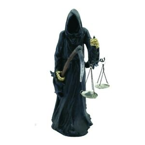 FINAL CHECK IN 40cm Nemesis Now Gothic Reaper Ornament Scales Death - FREE P+P