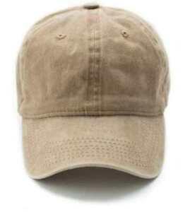 Baseball Cap Vintage Style Denim Adjustable Faded  Hat Sand Khaki Beige