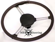 FOR MORRIS MINOR LUXURY BROWN PERFORATED LEATHER STEERING WHEEL COVER