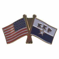 Kappa Kappa Psi Flag and USA Flag Lapel Pin KKPsi