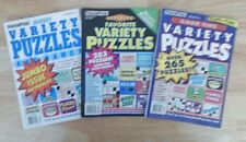 Lot of 3 PENNY PRESS Variety Puzzle Books 2014 NEW #42