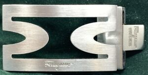 Salvatore Ferragamo Belt Buckle Stainless Steel Brushed Finish 32mm wide Belt