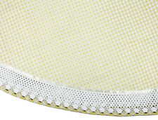 Round Lemon French Country Cottage Gingham Table Cloth 180 cm