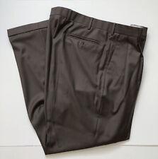 Zanella Austin Men's Brown Pleated Cuffed Dress Pants Size 36x32