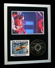 STONE ROSES+IAN BROWN+SIGNED+FRAMED+FOOLS GOLD=100% GENUINE+EXPRESS GLOBAL SHIP