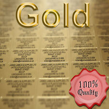Gold Personalised Pre-Printed Mini Address Labels x 520