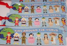 BOOKMARKS PAPER MULTICULTURAL LOT OF 24 CARNIVALS, PARTY TOY, FAVOR.