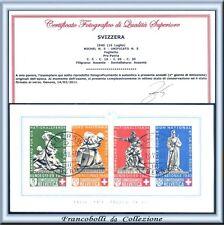 Svizzera 1940 Foglietto PRO PATRIA n. 14 FDC Certificato Usato Primo giorno