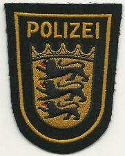 Polizei WSP BADEN-WÜRTTEMBERG  Stoffabzeichen Patch 90er J.  WASSERSCHUTZPOLIZEI