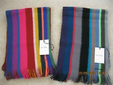 Paul Smith 'Mike Stripe' Wool Scarves in various colours