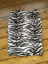 62a4c4bd35ed Principles Petite Faux Fur Zebra Animal Print Pencil Skirt Made In UK Size  10