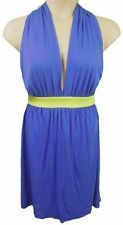 BLUE JERSEY PLUNGE FRONT DRESS WITH CUT-AWAY BACK, ATMOSPHERE UK 16 ,  LD320