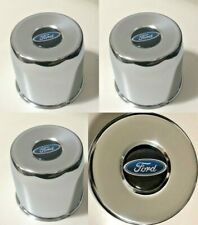 """4 CHROME METAL 8 LUG 5.15"""" WHEELS CENTER CAPS FOR 2WD FORD PICKUP TRUCK HC211A"""