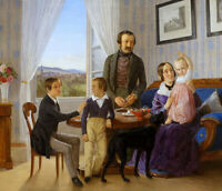 """high quality oil painting  handpainted on on canvas """"Family"""""""