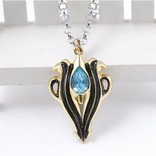 Anime Fire Emblem If Aqua Crystal Alloy Charm Pendant Necklace Cosplay Gift