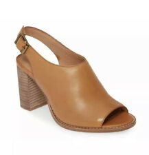 MADEWELL THE CARY SANDAL IN LEATHER STYLE NO. G1979 COLOR AMBER BROWN SIZE 8.5