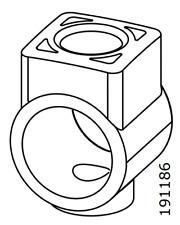 2x IKEA 191186 Tube Base Connector Martin Chair