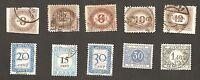 Postage Due Stamps Austria, Belgium, Netherlands