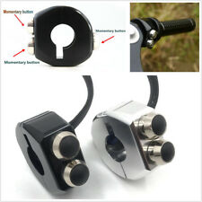 1 Pair CNC 3 in 1 Momentary Switch Handlebar Buttons Switch Motorcycle Cafe Race