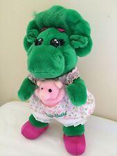 Barney Plush Stuffed Baby Bop With Dress And Stuffed Pig Pocket
