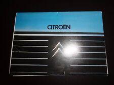 CITROEN RANGE orig 1980 UK Mkt Sales Brochure - 2CV6 GSA CX Dyane 6 2CV GS Visa