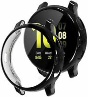 2X CUSTODIA 3D COPERTURA TOTALE per Samsung Galaxy Watch Active2 (44mm) Nero