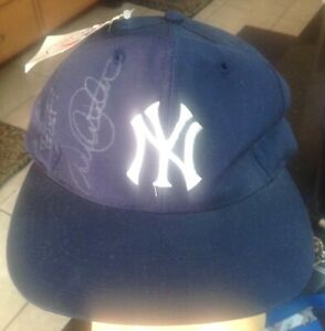 Derek Jeter Autographed New York Yankees Snap Back Hat Cap NY New With Tags