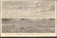 CANADA QUEBEC LAC ABITIBI LAKE GRAVURE IMAGE 1887