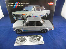 Kyosho 08542S BMW 2002 Turbo in Silver 1:18 Scale Item produced 2001