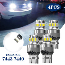 AUXITO 7443 7440 LED White Reverse Stop Break Turn Signal Parking Light Bulbs 4X