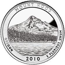 2010 S SILVER GEM PROOF MOUNT HOOD AMERICA THE BEAUTIFUL QUARTER 90% SILVER