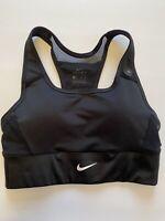 New Womens Nike Swoosh Pocket Sports Bra Top BV3775 011 XS BLACK medium support