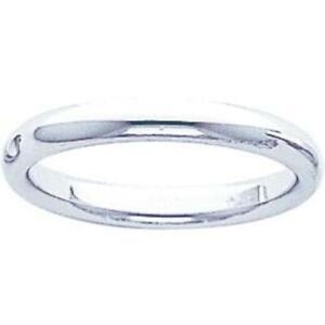 14K White Gold Comfort Fit Wedding Band Sz 8.5